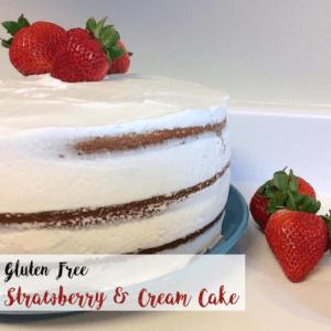 Gluten Free Strawberry Cream Cake