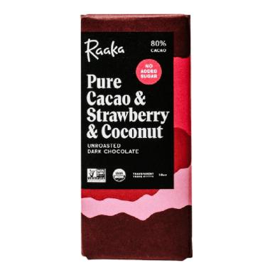 Raaka Pure Cacao & Strawberry & Coconut Unroasted Dark Chocolate