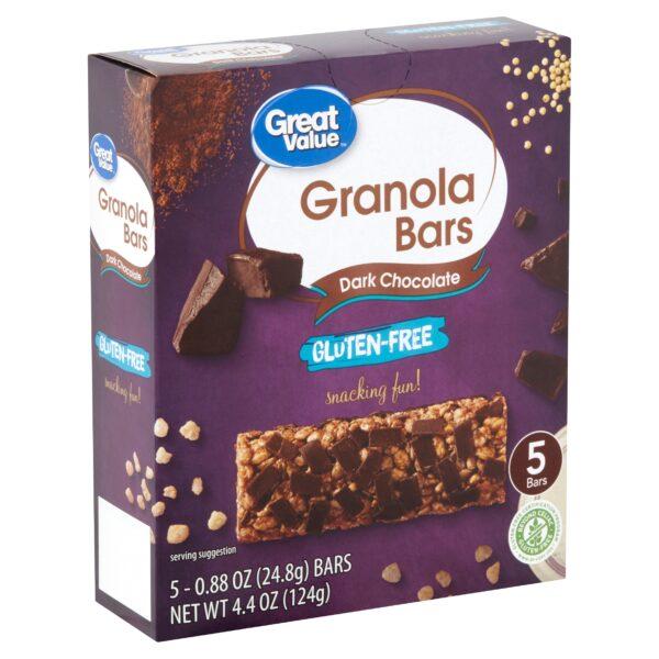 Great Value Gluten-Free Dark Chocolate Granola Bars