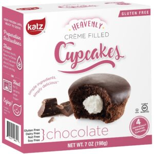 Katz Gluten Free Cupcakes Chocolate Creme Filled